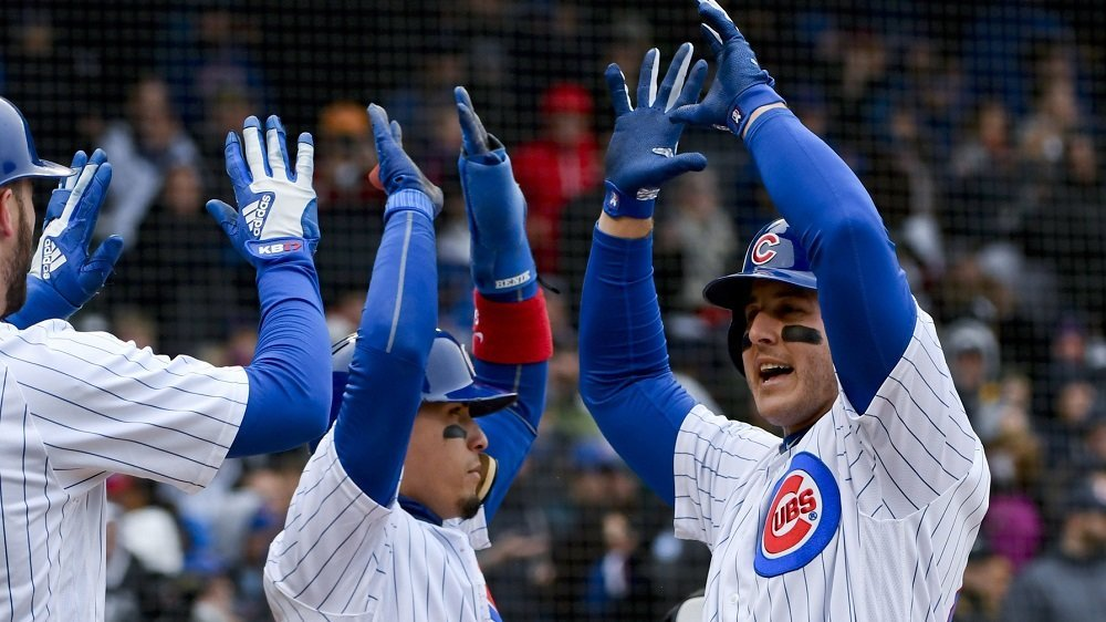 Chicago Cubs first baseman Anthony Rizzo hit a critical home run in the first inning for his fifth long ball this month. (Photo Credit: Matt Marton-USA TODAY Sports)