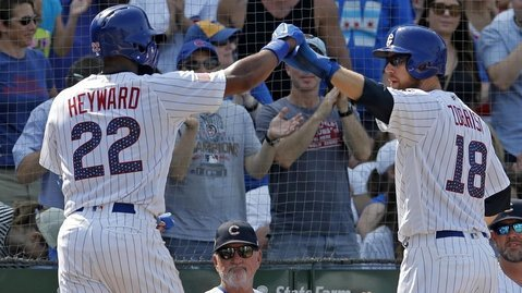 A well-balanced offensive output enabled the Cubs to win their fifth straight. (Photo Credit: Jim Young-USA TODAY Sports)