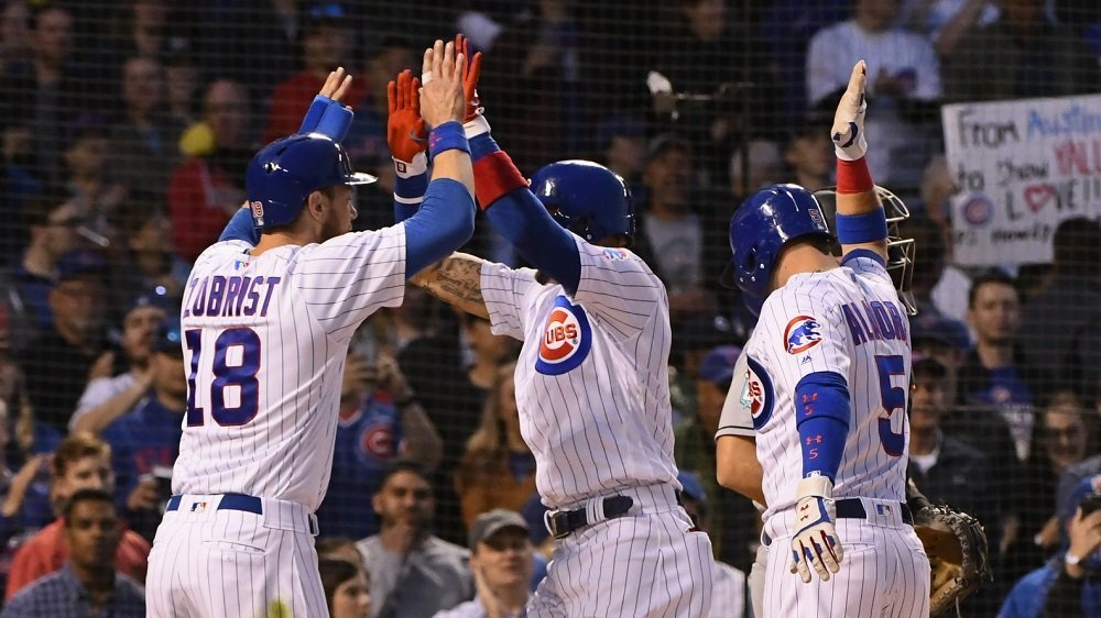 The Cubs hit four home runs as part of a total team domination of the Marlins. (Photo Credit: Matt Marton-USA TODAY Sports)