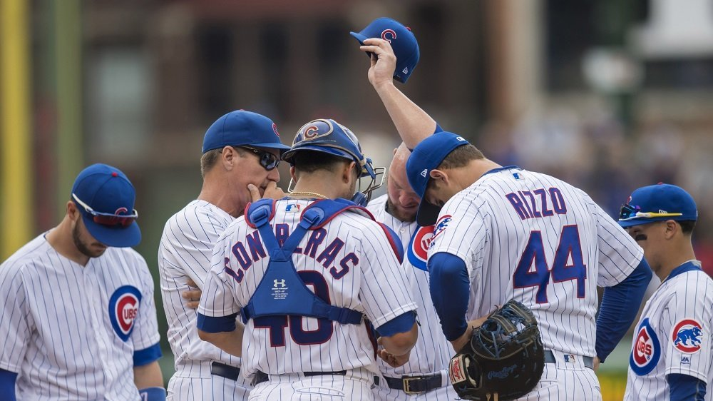 The Cubs gave up five home runs, including three by one player, in an embarrassing defeat. (Photo Credit: Patrick Gorski-USA TODAY Sports)