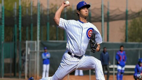 Cubs starting pitcher Yu Darvish underwent elbow surgery to bring a frustrating injury rehab to an official conclusion. (Photo Credit: Jayne Kamin-Oncea-USA Today Sports)