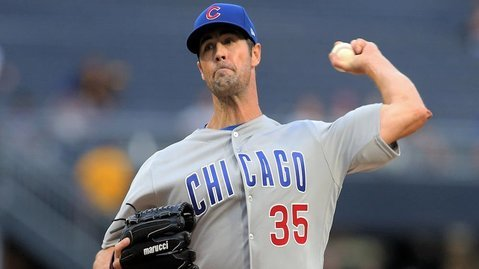 Cole Hamels fanned nine hitters in five innings of solid work on the hill. (Photo Credit: Charles LeClaire-USA TODAY Sports)