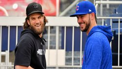 Bryce Harper not a fan of trading for Kris Bryant