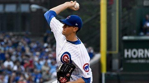 Cubs pitcher Kyle Hendricks received no run support whatsoever in his five-inning start. (Photo Credit: Matt Marton-USA TODAY Sports)
