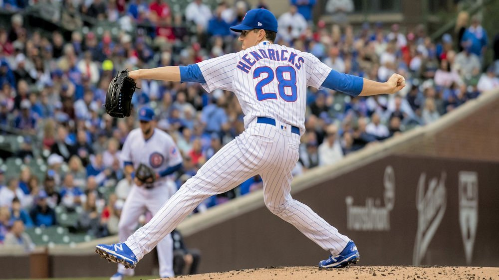 Chicago Cubs starter Kyle Hendricks pitched a gem to help lead his team to victory. (Photo Credit: Patrick Gorski-USA TODAY Sports)
