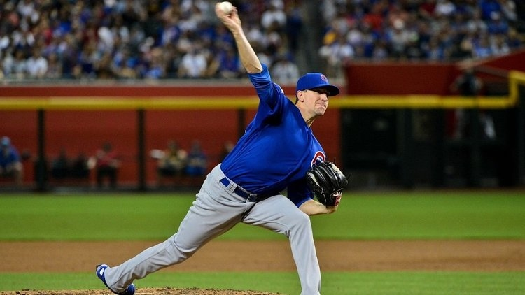 Chicago Cubs ace Kyle Hendricks fell apart in the seventh inning, leading to a late-game collapse by the North Siders. (Credit: Matt Kartozian-USA TODAY Sports)