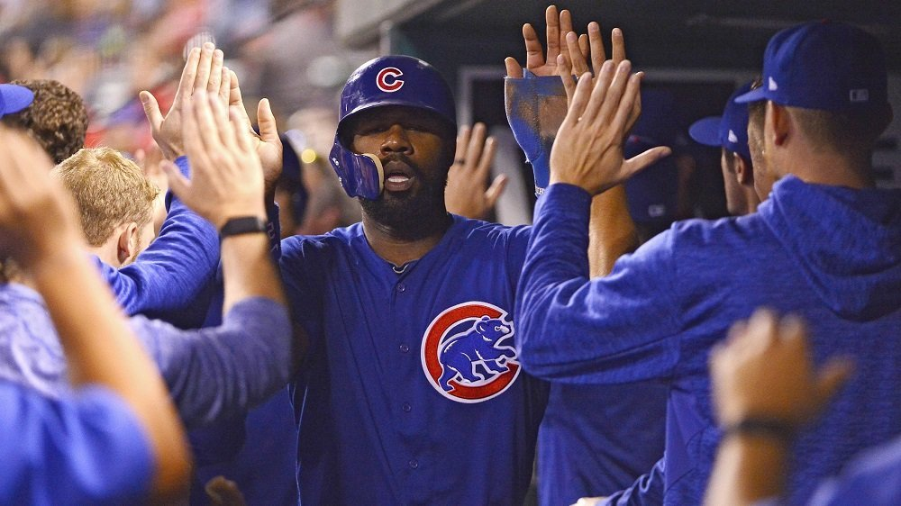 An error suffered on a ground ball hit by Jason Heyward ultimately led to a Cubs victory. (Photo Credit: Jeff Curry-USA TODAY Sports)