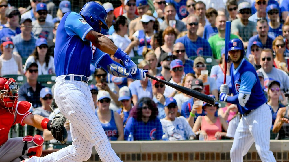 In Sunday's shutout, Cubs right fielder Jason Heyward collected four hits for the fourth time this season. (Photo Credit: Matt Marton-USA TODAY Sports)