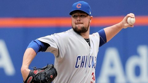 Cubs lefty Jon Lester threw 5.2 hitless innings before giving up a single in the sixth. (Photo Credit: Anthony Gruppuso-USA TODAY Sports)