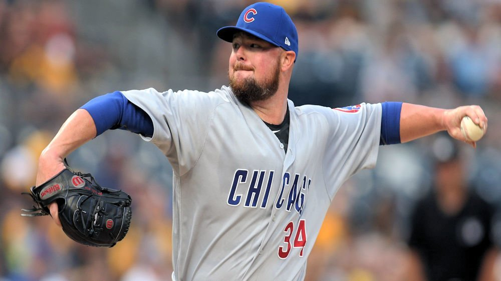 Cubs starting pitcher Jon Lester cruised through the Pirates' batting order in six innings of work. (Photo Credit: Charles LeClaire-USA TODAY Sports)