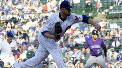 Cubs ace Jon Lester produced a quality start but was definitely aided by his teammates on the defensive front. (Photo Credit: David Banks-USA TODAY Sports)