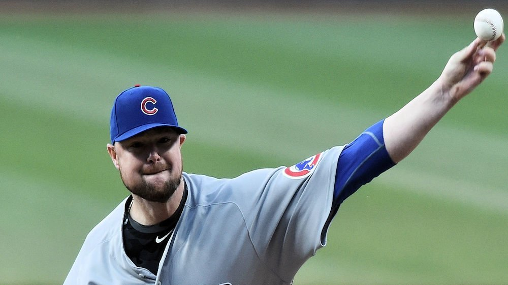 Chicago Cubs hurler Jon Lester received no run support in a losing effort against the Cleveland Indians. (Photo Credit: Ken Blaze-USA TODAY Sports)