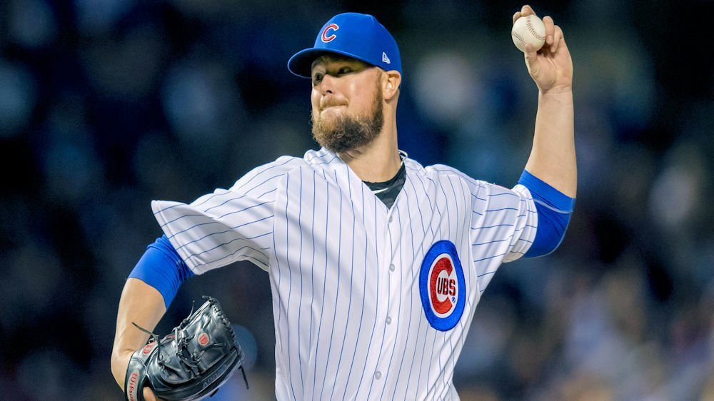 Cubs ace Jon Lester departed Monday's affair with lower back issues. (Photo Credit: Patrick Gorski-USA TODAY Sports)