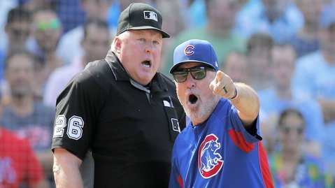 Surprisingly, Joe Maddon's ejection seemed to work in the Cubs' favor. (Photo Credit: Jim Young-USA TODAY Sports)