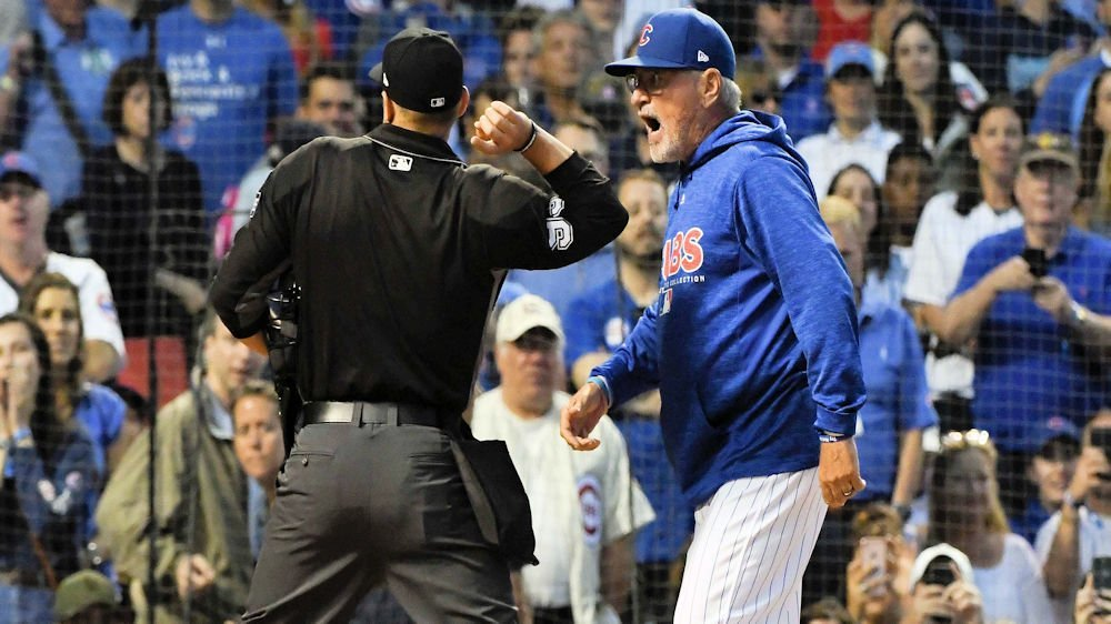 Controversial ejections of Javier Baez and Joe Maddon highlighted an emotional rivalry game. (Photo Credit: Matt Marton-USA TODAY Sports)