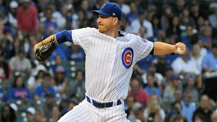 Left-handed reliever Mike Montgomery was traded by the Cubs, who were in need of a catcher. (Credit: Matt Marton-USA TODAY Sports)