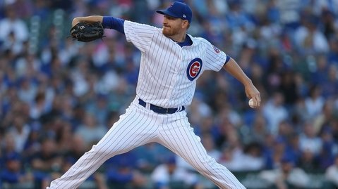 Mike Montgomery thanked the Chicago Cubs organization and its fans for the positive impact that they had on his career. (Credit: Dennis Wierzbicki-USA TODAY Sports)