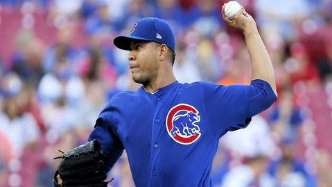 Jose Quintana's fifth-inning troubles proved disastrous for the Cubs. (Photo Credit: David Kohl-USA TODAY Sports)