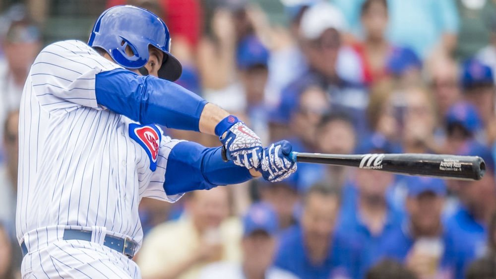 Chicago Cubs first baseman Anthony Rizzo garnered three RBI in a productive day at the plate. (Photo Credit: Patrick Gorski-USA TODAY Sports)