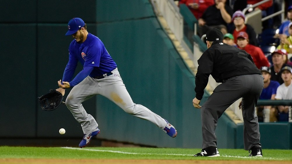 The Chicago Cubs committed three errors in an overall dreadful performance. (Photo Credit: Tommy Gilligan-USA TODAY Sports)
