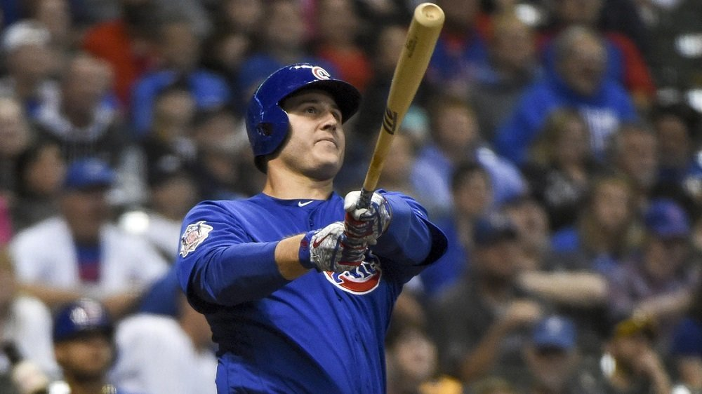 With his clutch home run, Anthony Rizzo incited a scoring onslaught for the Cubs in the 11th inning. (Photo Credit: Benny Sieu-USA TODAY Sports)