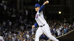 Rizzo makes pitching debut in one-sided Cubs loss