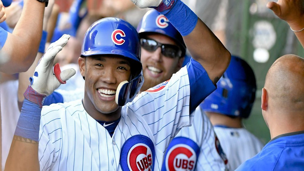 Addison Russell made Chicago Cubs history by becoming the club's first shortstop to ever amass four RBI in back-to-back games. (Photo Credit: Matt Marton-USA TODAY Sports)
