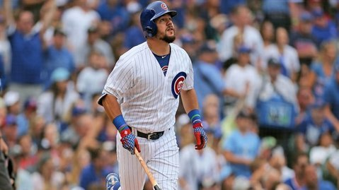 Kyle Schwarber is tied for first in terms of home runs hit by a Cub this season. (Photo Credit: Dennis Wierzbicki-USA TODAY Sports)