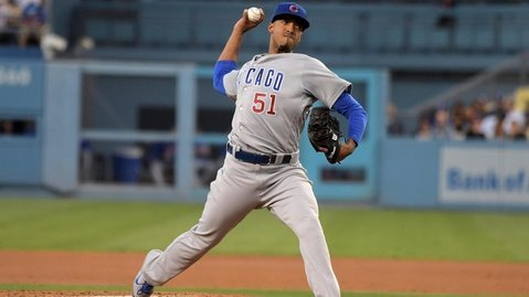 Making his first big-league appearance, Chicago Cubs pitcher Duane Underwood, Jr., was very composed on the mound. (Photo Credit: Kirby Lee-USA TODAY Sports)