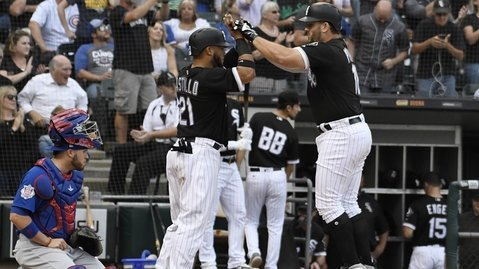 The White Sox amassed 19 hits, including two home runs, in a dominant offensive performance against the rival Cubs. (Photo Credit: David Banks-USA TODAY Sports)