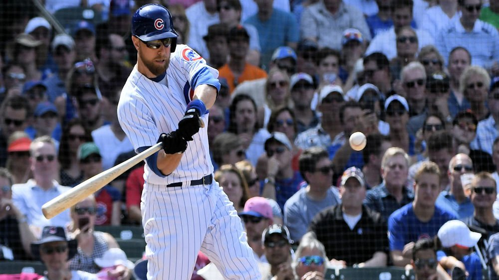Ben Zobrist put the Cubs ahead for good with a clutch two-run double in the seventh. (Photo Credit: Matt Marton-USA TODAY Sports)