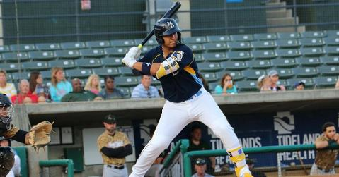 Amaya is one of the Cubs' prized prospects (Photo credit: MB Pelicans)