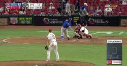 WATCH: Javier Baez bats left-handed against Reds position player