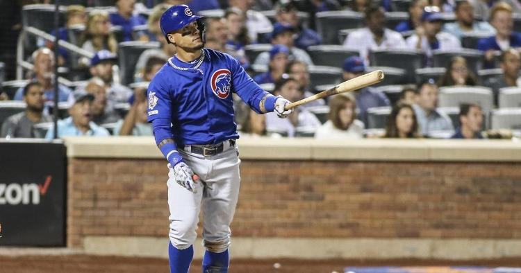 Chicago Cubs shortstop Javier Baez showed out at the dish and in the field throughout the Cubs' 5-2 win. (Credit: Wendell Cruz-USA TODAY Sports)