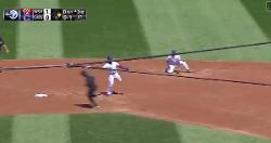 WATCH: Javier Baez, Tony Kemp combine for flawless double play
