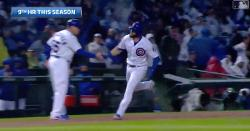 WATCH: David Bote plows 407-foot dinger for Cubs' third homer of game