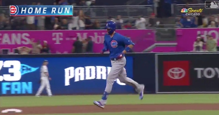 On Tuesday, Chicago Cubs third baseman Kris Bryant smashed his second 2-run jack of the night in the eighth inning.
