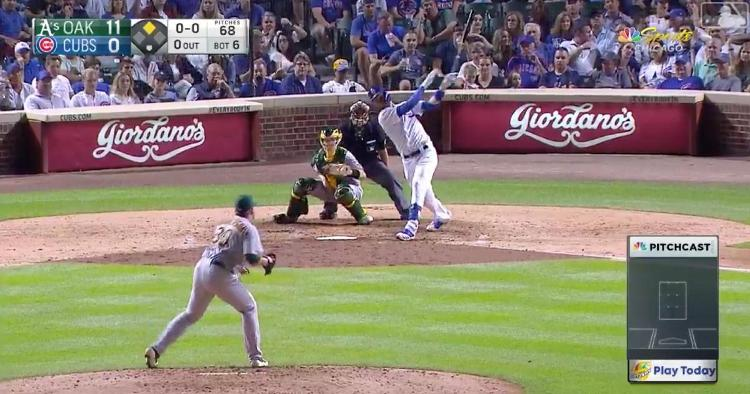 Cubs third baseman Kris Bryant went yard for the 22nd time on the year with a 439-foot 2-run blast.