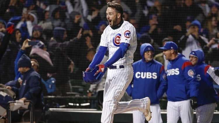 Kris Bryant sent his Chicago Cubs home with a walk-off win via a 3-run bomb in the bottom of the ninth. (Credit: Kamil Krzaczynski-USA TODAY Sports)