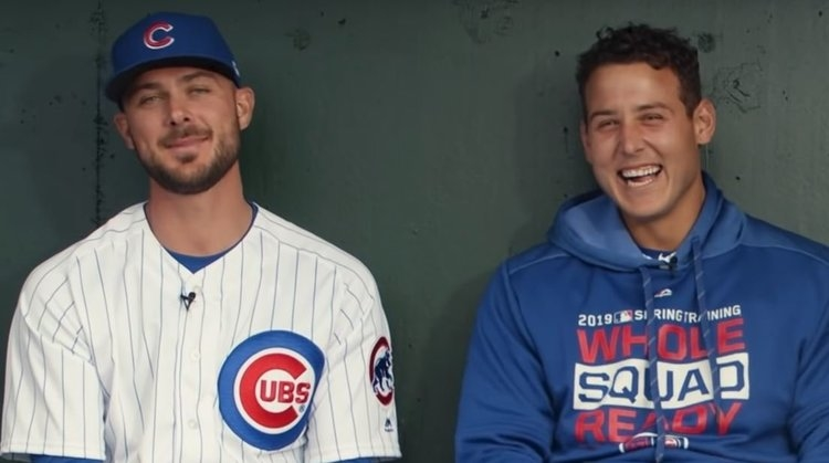 Bryant and Rizzo in the new 'Call to the Bullpen' video