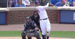 WATCH: Nicholas Castellanos does epic bat slam after 2-run dinger