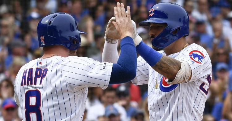 Less than a month into his Chicago Cubs tenure, Nicholas Castellanos (right) has already hit 11 home runs. (Credit: Matt Marton-USA TODAY Sports)