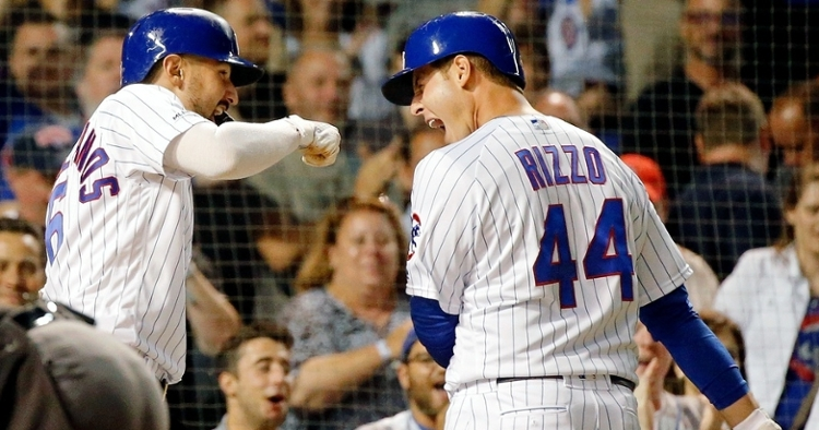 Anthony Rizzo provided the Chicago Cubs with a boost in his triumphant return to action, but the Cubs were ultimately unable to defeat the St. Lous Cardinals. (Credit: Jon Durr-USA TODAY Sports)
