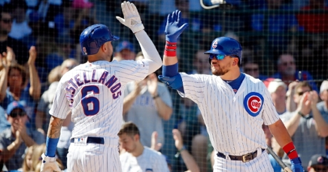 Schwarber and Castellanos had some exciting moments in 2019 (Jon Durr - USA Today Sports)