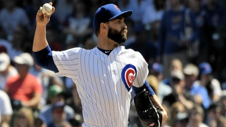 Tyler Chatwood was forced to make a spot start in place of an ailing Yu Darvish on Sunday afternoon. (Credit: David Banks-USA TODAY Sports)