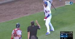 WATCH: Willson Contreras gets into it with Braves catcher as benches clear