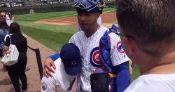 WATCH: Touching moment as Willson Contreras reunites with pediatric patient