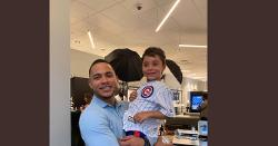 LOOK: Willson Contreras shows off his heart of gold, takes time out to meet with young fan