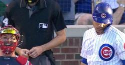 LOOK: Tyler Flowers laughed at Willson Contreras during heated at-bat