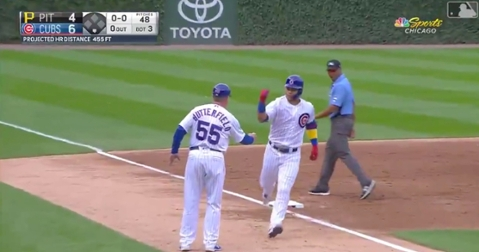 Chicago Cubs catcher Willson Contreras tallied his second home run of the afternoon in the third inning on Friday.